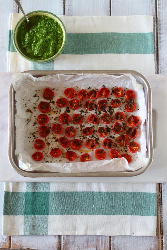Pesto-di-rucola-e-pomodorini-confit