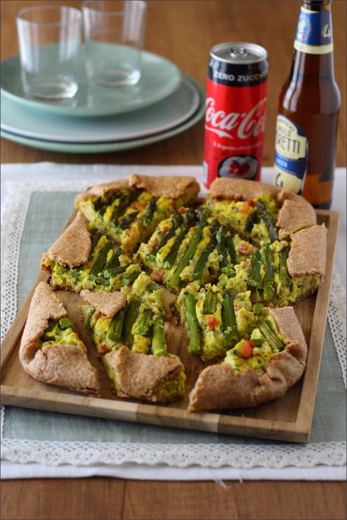 Torta-salata-integrale-con asparagi-e-grano-cotto